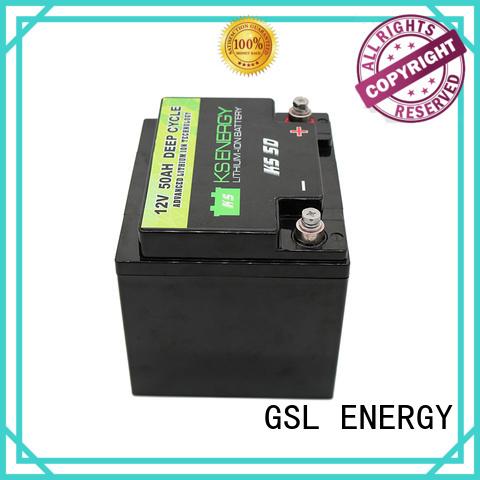 lithium 12v 50ah lithium battery marine car GSL ENERGY company