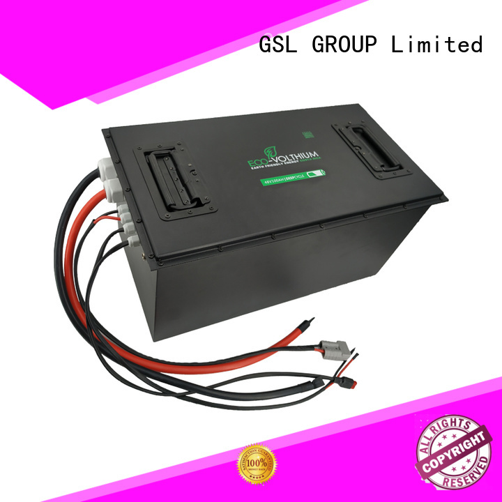 48v golf cart battery club golf lifepo4 GSL ENERGY Brand golf cart battery charger