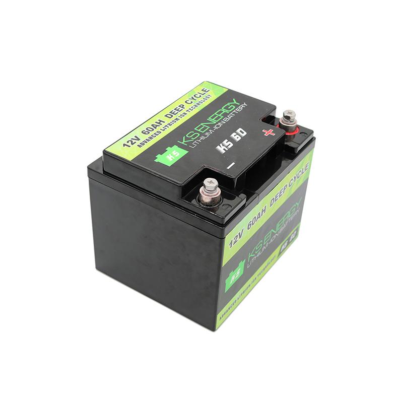 12V 60AH Deep Cycle Lifepo4 Lithium Motorcycle Battery