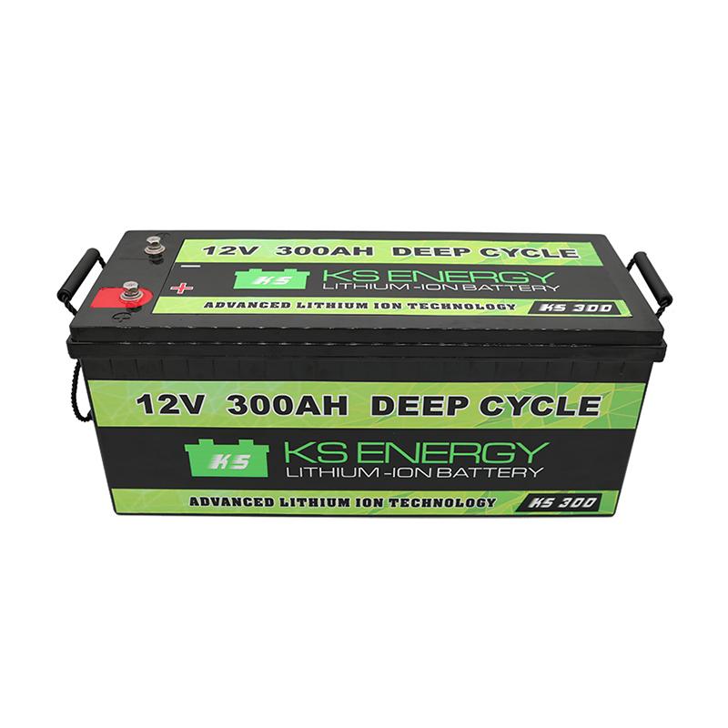 12V 300AH Deep Cycle Li Ion Battery For RV Camping Car Caravans
