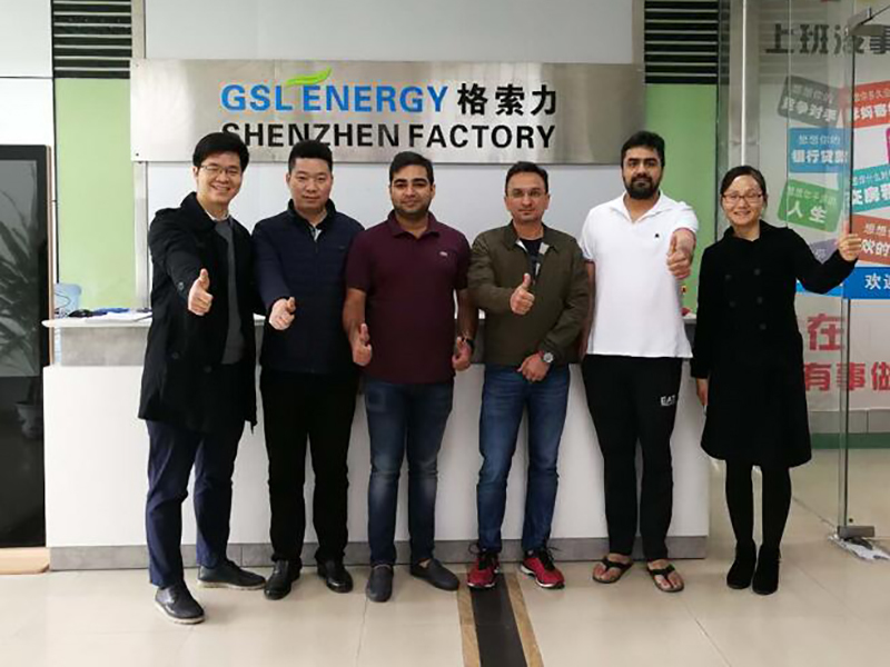 Indian client visiting GSL energy for lithium battery and ESS business cooperation