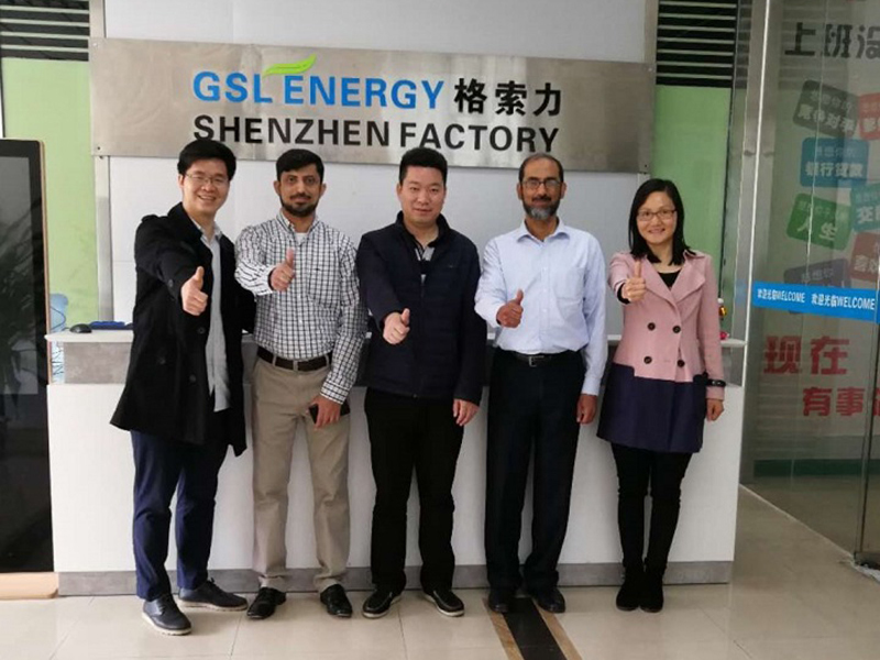 Pakistan client visits GSL ENERGY for ESS business cooperation in 2018.