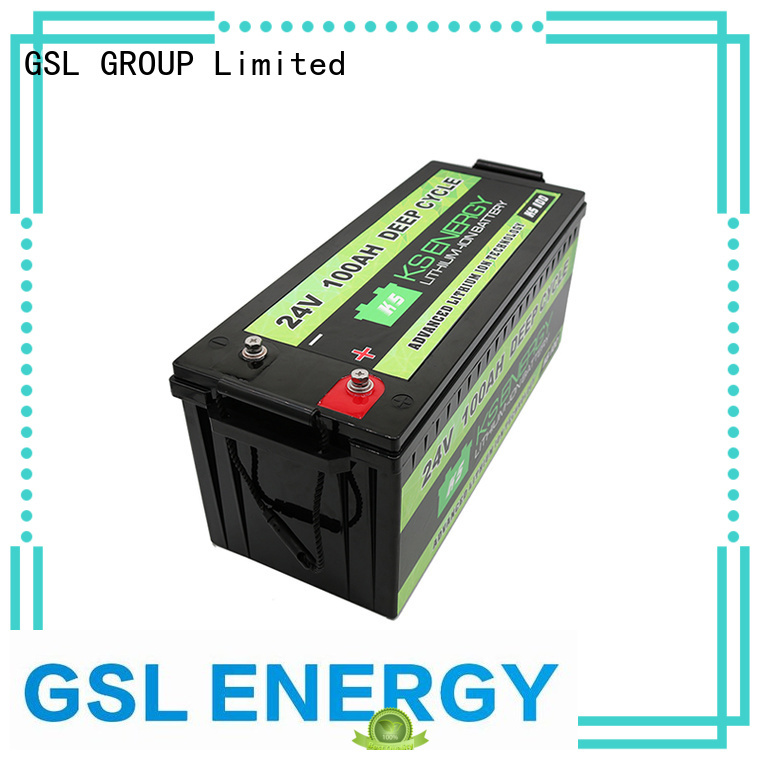 cycle 24v li ion battery lifepo4 bank GSL ENERGY Brand