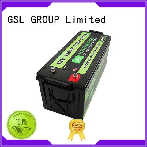 cycle Custom storage rv 12v 50ah lithium battery GSL ENERGY camping