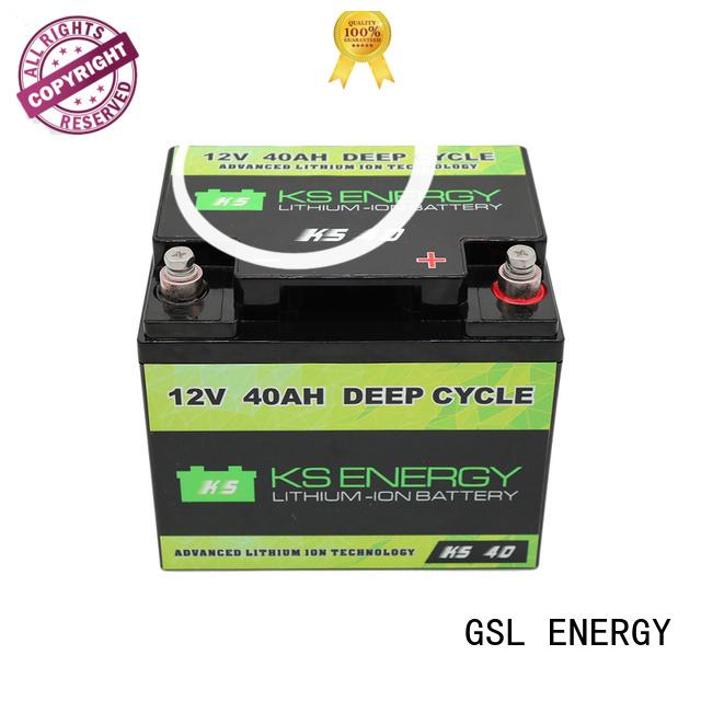 Custom cycle ion 12v 50ah lithium battery GSL ENERGY cycles