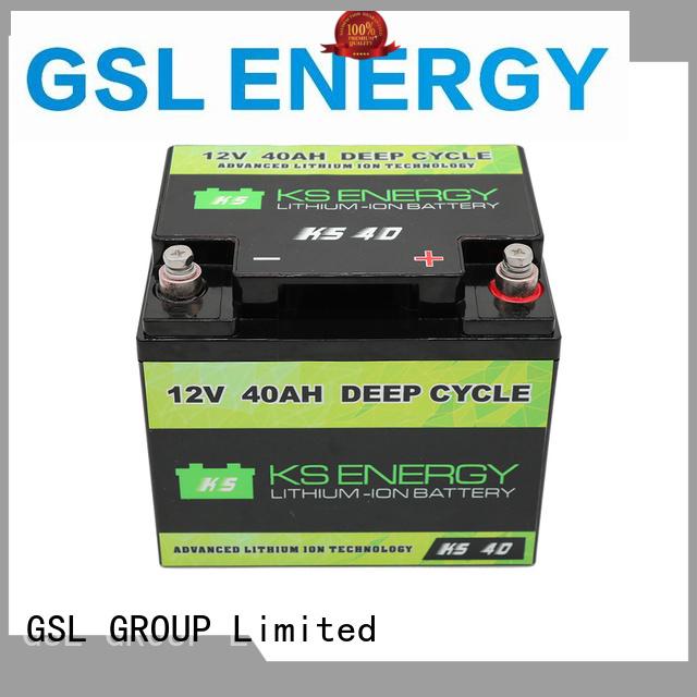 camping deep car GSL ENERGY Brand 12v 20ah lithium battery factory