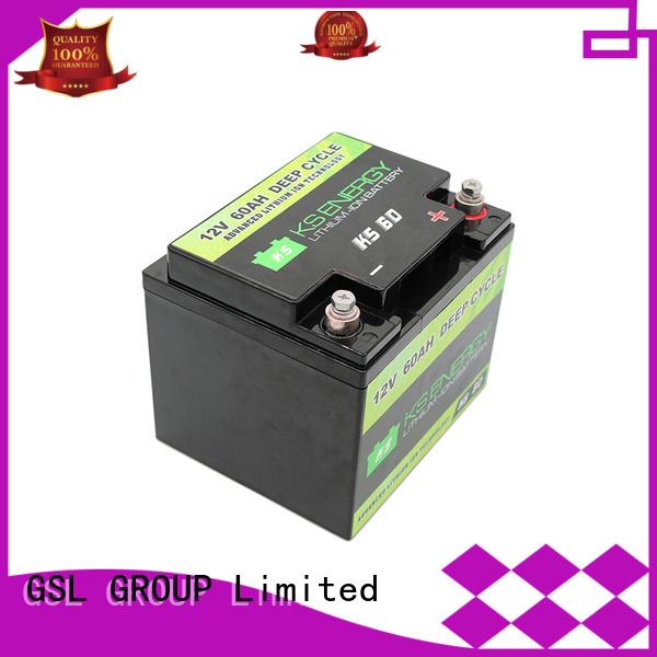 car lifepo4 led marine GSL ENERGY Brand 12v 50ah lithium battery supplier