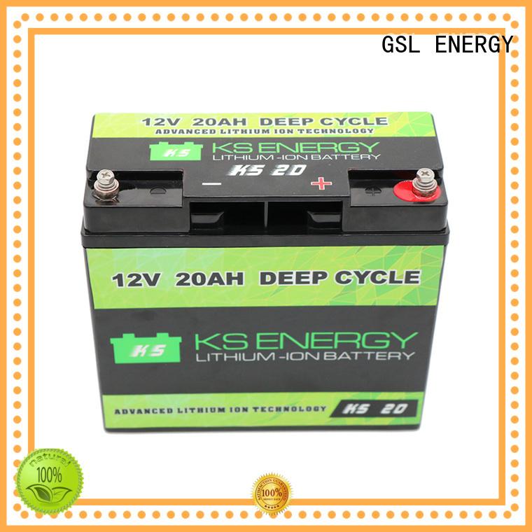 GSL ENERGY Brand llithium 12v 20ah lithium battery solar supplier