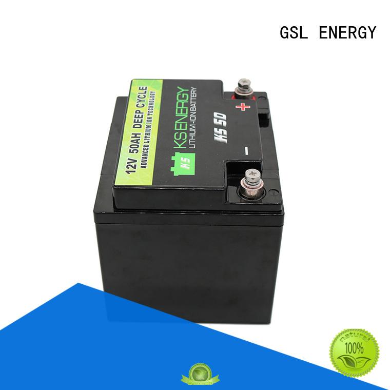 caravans long 12v 50ah lithium battery li led GSL ENERGY company