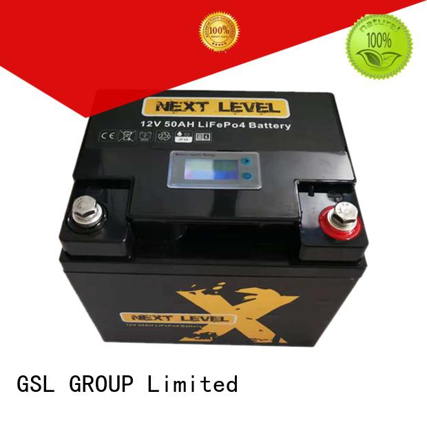 liion ion display 12v 50ah lithium battery GSL ENERGY Brand