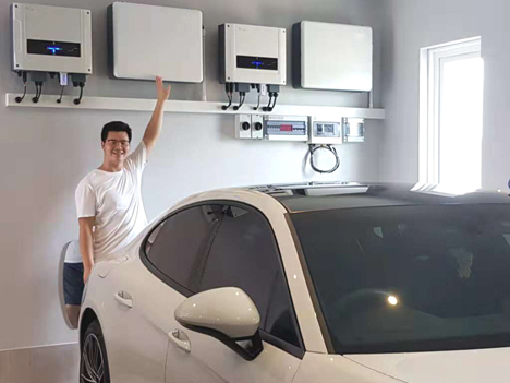 14kwh powerwall ESS hybrid solar system for EV charging