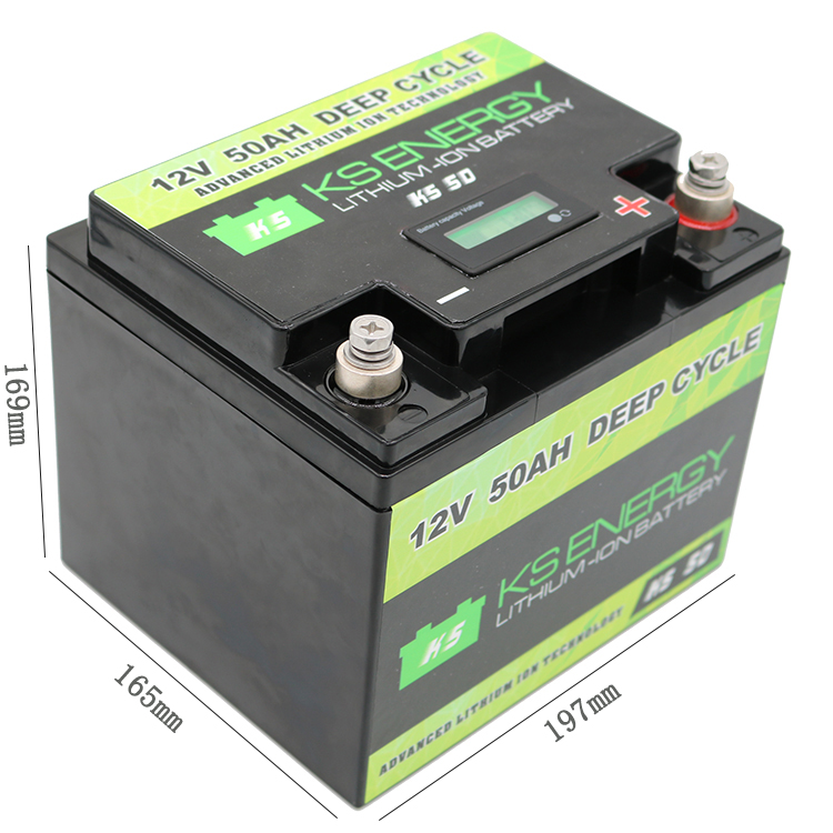 GSL ENERGY-Lifepo4 Battery Pack Manufacture | 12v 50ah Li-ion Battery With Led Capacity-1