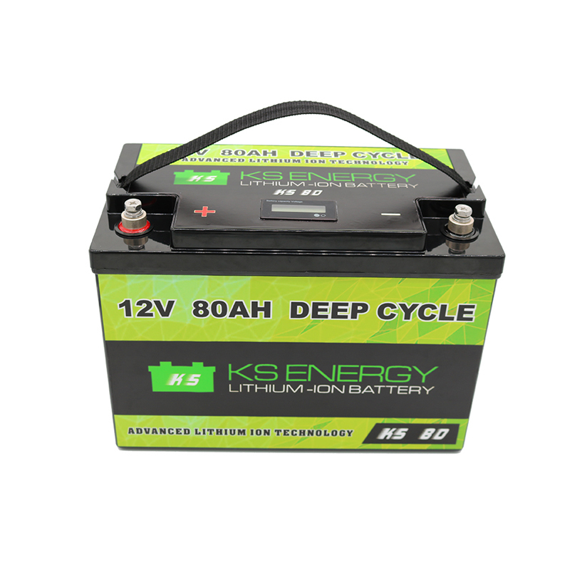 More Safer And Lightweight LED Power Display 12V 80Ah Lithium Iron Phosphate Battery Alternative To Lead-acid In Your Marine,Solar,RV Or Other Applications